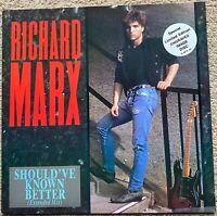 Richard Marx - Should've Known Better 1987 12 inch etched vinyl single