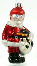 Vintage Painted Glass Boy Penguin Classic Christmas Ornament Holiday Decoration