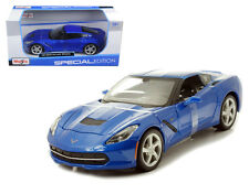2014 Chevrolet Corvette Stingray Blue 1/24 Diecast Car Model By Maisto 31505