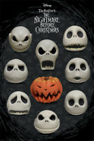 """Nightmare Before Christmas Many Faces of Jack Maxi Poster 24"""" x 36"""""""