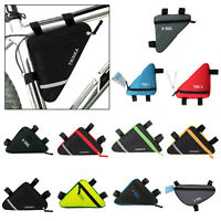Waterproof Triangle Cycling Bike Bicycle Pouch Front Tube Frame Pouch Saddle Bag