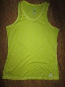 Womens ADIDAS CLIMALITE athletic sleeveless tank top  shirt sz L Lg