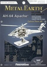 AH-64 Apache Helicopter Metal Earth 3D Model Kit FASCINATIONS