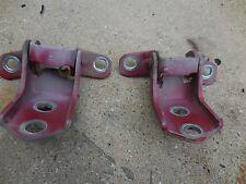 MAZDA RX-8 2004-2011 USED OEM FRONT LEFT LH DRIVER SIDE DOOR HINGES SET RED