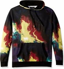 Authentic Guess Men's Finch Printed Hoodie - Galaxy Tie Dye Print Blue - Size L