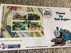 RAILWAY FIRST DAY COVER FDC TRAIN COVER SPECIAL THOMAS THE TANK ENGINE