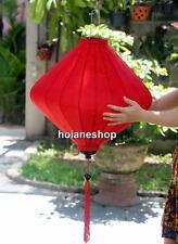 2 x HOI AN silk lanterns 26'' (66 cm) - Lanterns for wedding decor - Red Cake