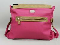Miche ALEXA Prima Shell Pink Faux Leather Tan Trim Front Zippered Pocket