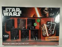 Star Wars Playing Cards w/ Collectible Tin 7 Decks, 5 Dice NEW Cartamundi