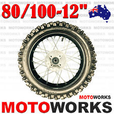 "80/100 - 12"" Inch Rear Back Wheel Rim Tyre Tire 125CC Dirt Pit PRO Trail Bike"