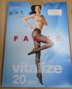 Falke Vitalize matt 20 tights BNIP size S/M, M/L, XL 38-40 42-44 48-50 vitalizer