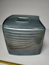 New listing Modern Square Facial Tissue Box Cover Holder for Bathroom Blue Silver