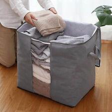 1PCS Bamboo Charcoal Storage Box Folding Clothes Blanket Closet Organizer Bag