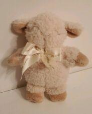 "Cloud B Tiny Mini Plush Fuzzy Sleep Sheep Lamb Cream Baby Toy Rattle Lovey 5"""
