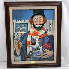Red Skelton Signed The Woodcarver 14x18 Canvas Art