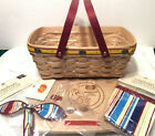 Longaberger JELLY BELLY Basket Liner Protector LID Tie On 2007 Signed by 6 New