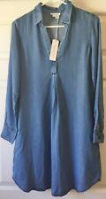 Ingrid & Isabel Maternity Long Sleeve Shirt Dress 1412CH Chambray XS - MSRP $87