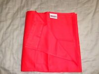 KENZO drap plat neuf 270 cm * 295 cm / flat sheet new 106 * 116 inch red coral