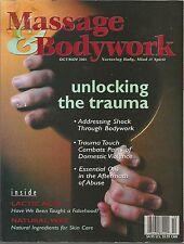 Massage & Bodywork Magazine -October/November 2001