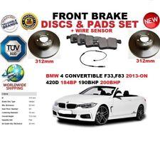 para BMW 420d F33 F83 Descapotable 312mm Discos freno Delantero Set + pastillas