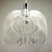 Pendel Leuchte Paul Secon Sompex Acryl Nylon Hänge Lampe 60er 70er Jahre VIntage