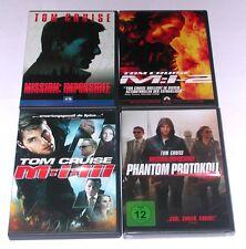 DVD: Sammlung MISSION IMPOSSIBLE 1-4 / Komplett Deutsch / Tom Cruise