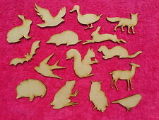 mdf wood mixed woodland animal craft blank embellishment shapes Plaques 3mm