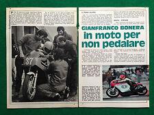(CC63) Clipping Ritaglio (Anni '70) - GIANFRANCO BONERA , AERMACCHI ALETTA 125