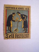 Tell Cacao und Chocolade - Hartwig & Vogel AG / Reklamemarke