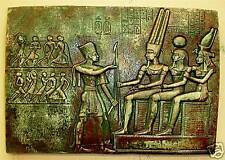 Egyptian Wall Sculpture King Ceremony Isis Art