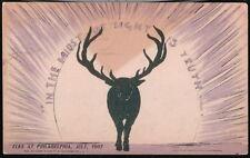 PHILADELPHIA PA BOPE Elks 1907 Convention Antique Postcard Early Old Vtg PC