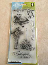 Inkadinkado Clear Stamps 4 Inch X 8 Inch Sheet-Spiritual Sketches 99548 NEW
