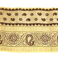 1m (3 foot) LONG Old Antique India SARI Saree TRIM Embroidered Textile 652j7