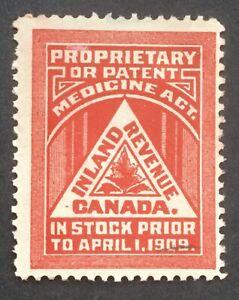 Lot60 Canada Revenue Medicne Stamp FM1 NG
