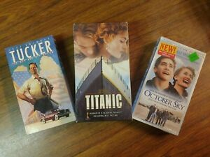"""Titanic, Tucker, and October Sky  VHS movies  """"Lot of 3"""""""