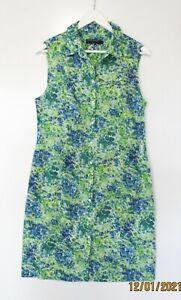 SPORTSCRAFT + LIBERTY // Size 12 // Floral Print Cotton Shirt Dress