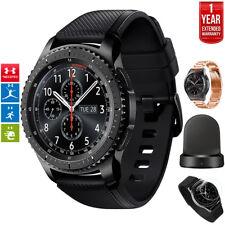 Samsung Gear S3 Frontier Bluetooth GPS Watch Gray + Extended Warranty Bundle
