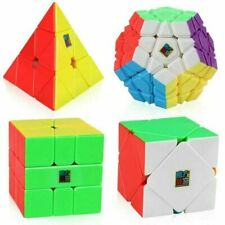 Moyu 4pcs Magic Cube Set Pyramid 2019 Dodecahedron Speed Smooth Cubes Puzzle Box