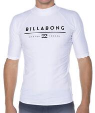 NEW +TAG BILLABONG MENS (XL) ALL DAY UNITY WETSHIRT RASH VEST SHORT SLEEVE WHITE