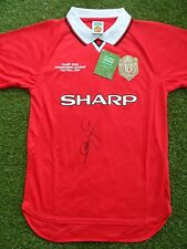 Dwight Yorke Hand Signed Manchester United 1999 Home Football Shirt - COA