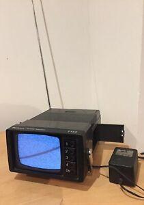 Vintage Benkson PTV2 Portable Black & White Television, Retro TV, With Box