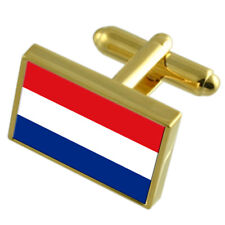 Holland Gold-Tone Country Flag Cufflinks Select Gift Pouch