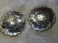 "2"" Round Vintage Southeastern style Sterling Silver 0.925 Post Pierced Earrings"