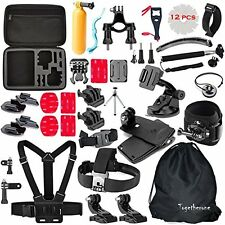 50 in 1 Pole Head Chest Mount Strap GoPro Hero 5 4 3 Camera Accessories Set Kit