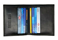 Mens Slim Leather Wallet RFID SAFE Contactless Card Blocking ID Protection 122