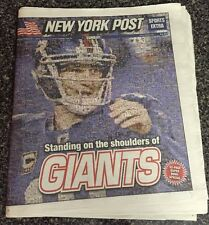 New York Post Feb 5,2012 Super Bowl XLVI Day 32 Page Super Bowl Special Inside
