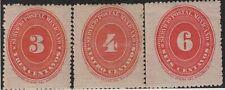 Mexico,Numeral,Scott#222-224,MH
