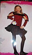 Lady Bug Costume Girls Med 8-10 -5pc Dress,Wings,Headband,Arms-Fun World