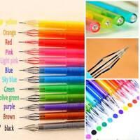 12Pcs/Set Diamond Gel Pen Draw Colored Pens Student Candy Color School Supplies