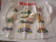 VINTAGE SOUVENIR OF MONTREAL HALF APRON - NEVER USED
